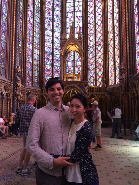 Ste-Chapelle-- stained-glass windows with images from books of the Bible. Fascinating!